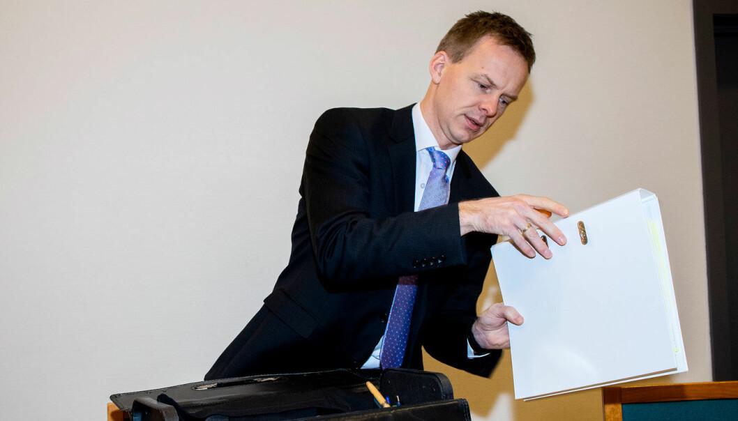 AKTOR: Politijurist Hans Olav Røyr krever 15 måneders ubetinget fengsel.