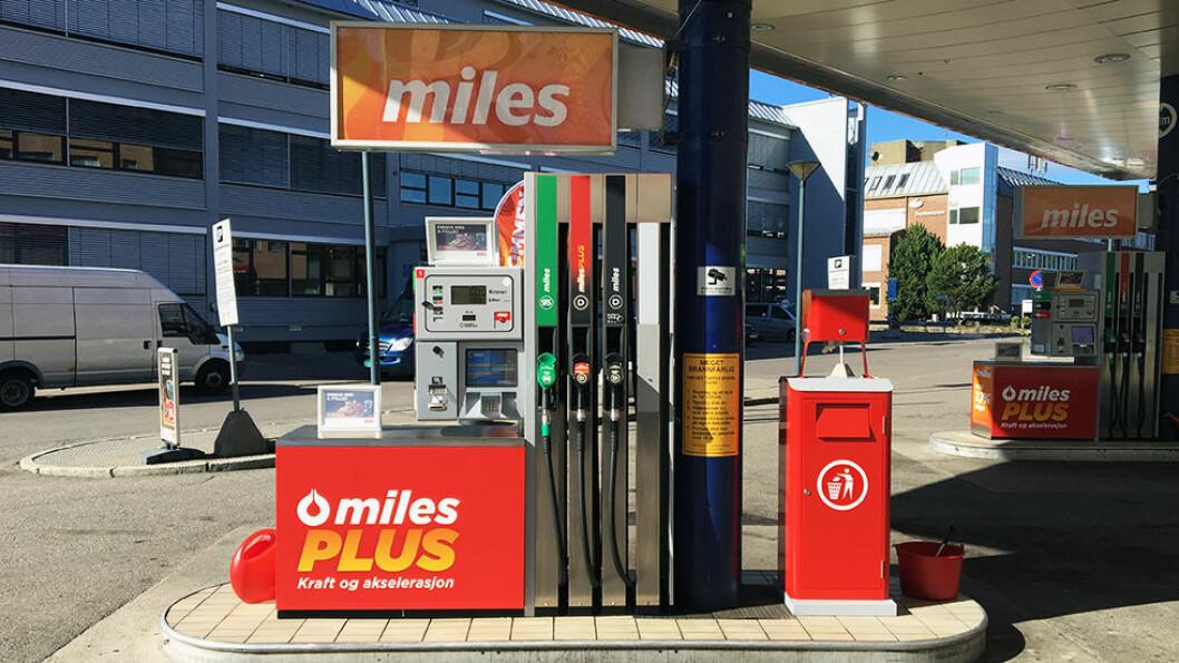 INGEN STOR NEDGANG: Prisen på bensin og diesel er falt med 7 prosent det siste året, selv om prisen på råolje har falt til 50 dollar fatet. Foto: Pia Strømstad