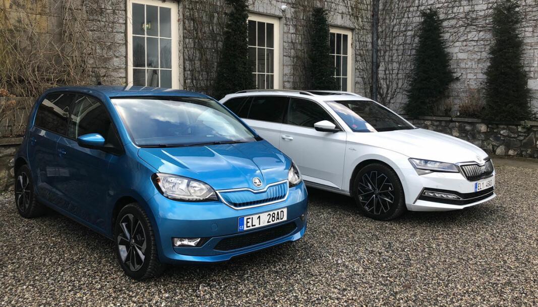 EKSTRA-GEBYR: Både småbilen Skoda Citigo og Skoda Superb kan kjøpes med ekstra garanti.