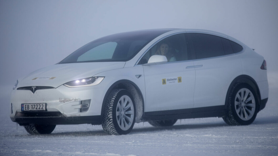 GOD NUMMER TO: Tesla Model X kom nest lengst i rekkeviddetesten. Foto: Tomm W. Christiansen