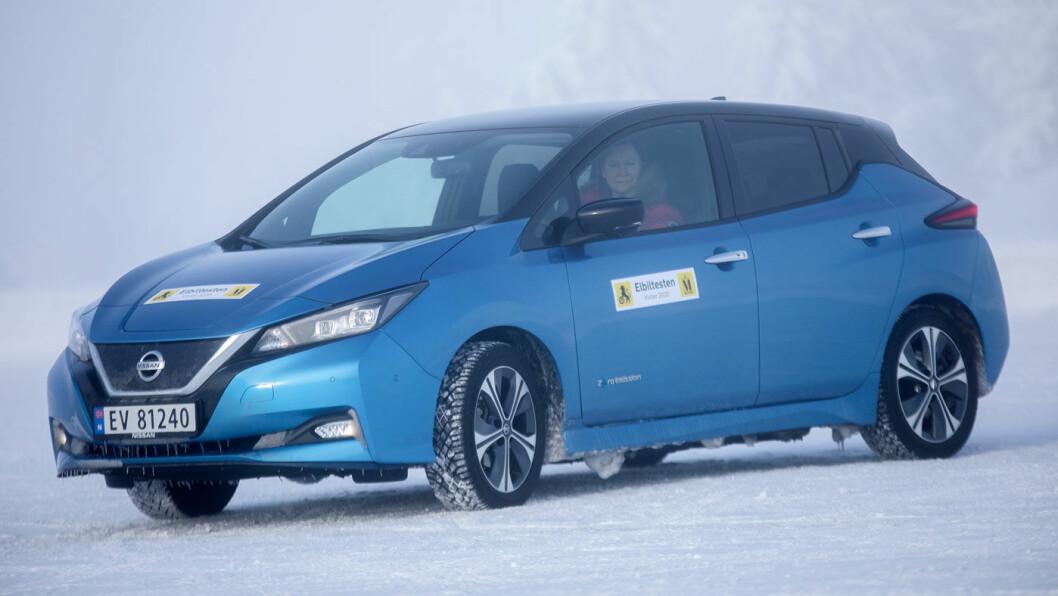 ET LØFT: Nissan Leaf med 62 kWt batteri går ni mil lengre enn enn 40 kWt-utgaven. Foto: Tomm W. Christiansen