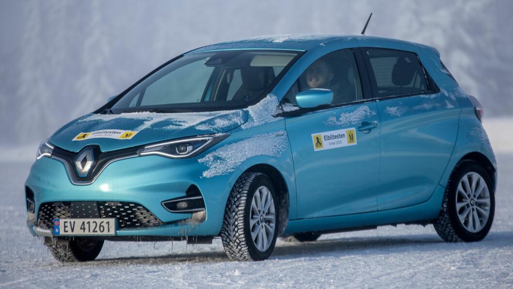 HOLDER SEG: Et kraftigere batteri har gitt Renault Zoe bedre rekkevidde. Foto: Tomm W. Christiansen