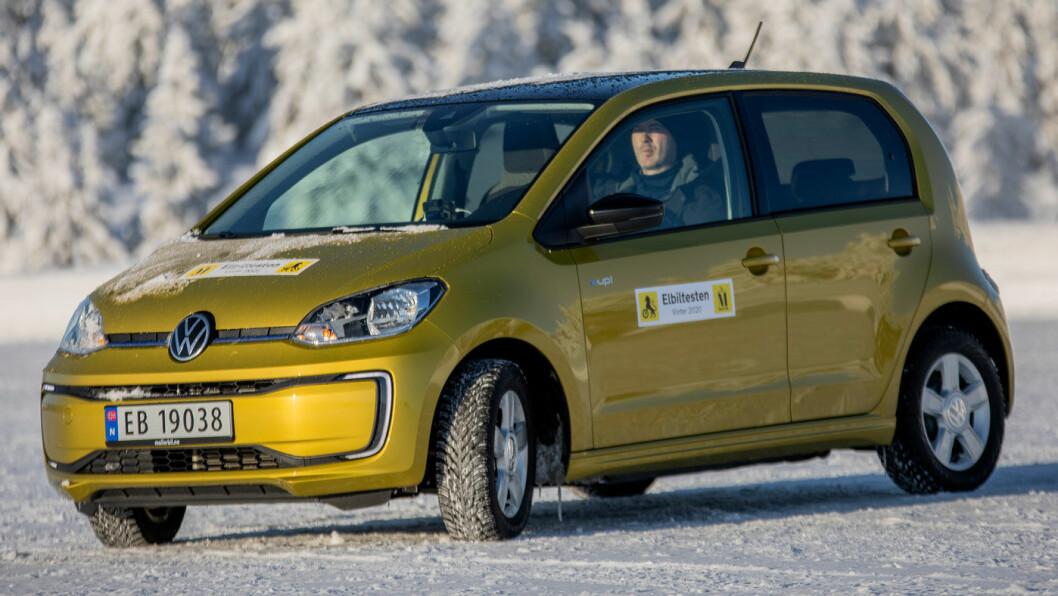 DYREST: VW e-up! er den dyreste av de tre trillingene, men har trolig også høyest bruktbilverdi. Foto: Tomm W. Christiansen