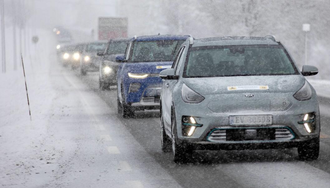 SANNHETENS ØYEBLIKK: Kulde og vanskelige kjøreforhold påvirker rekkevidden til Hyundai Kona og alle de andre elbilene.