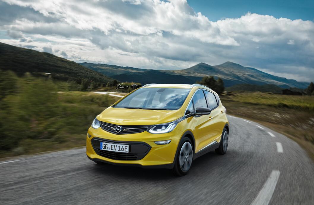 TIL VÅREN: Opel Ampera-e kommer på norske veier til våren. Foto: Opel