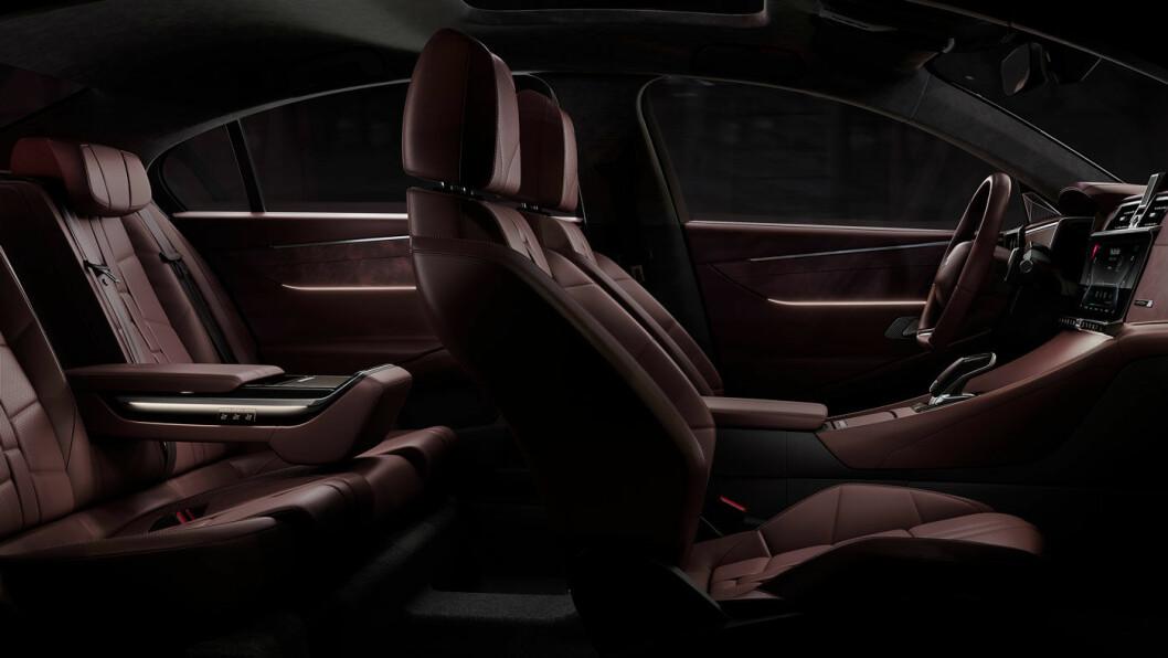 MERKEVARE: Interiøret har en særegen, eksklusiv design, som de (få) som kjenner merket fra før, vil kjenne igjen.