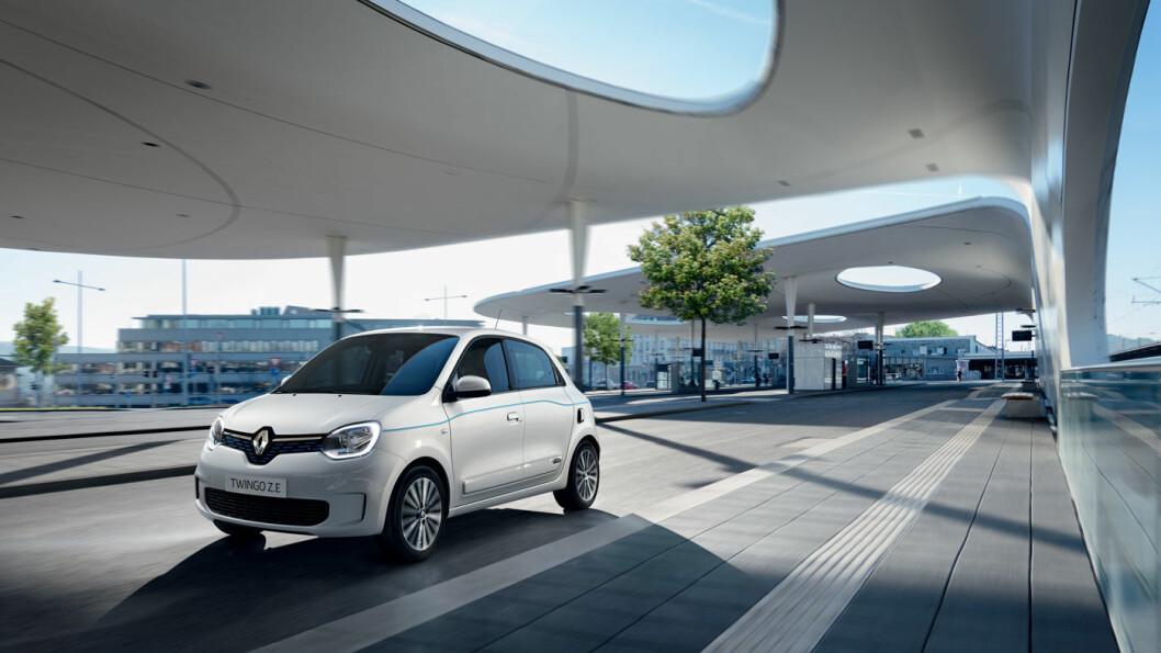 MODERNE IGJEN: Med batterielektrisk motor blir plutselig Renault Twingo aktuell for dem som ønsker en rimelig bybil med liten svingradius og ok rekkevidde. Foto: Renault