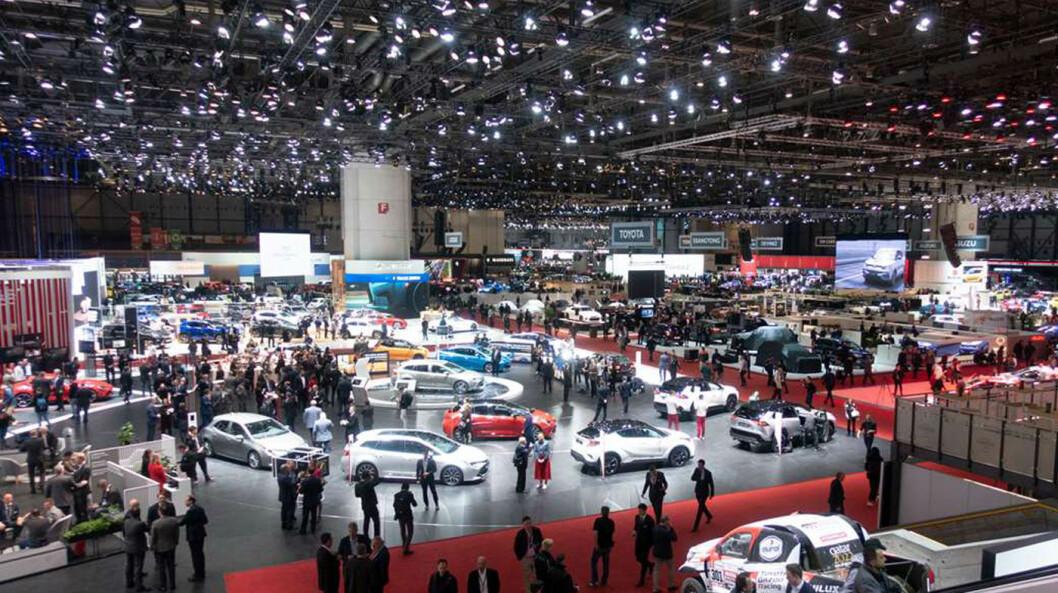 UTSATT: Den store bilutstillingen i Geneve som skulle arrangeres i februar, er utsatt.
