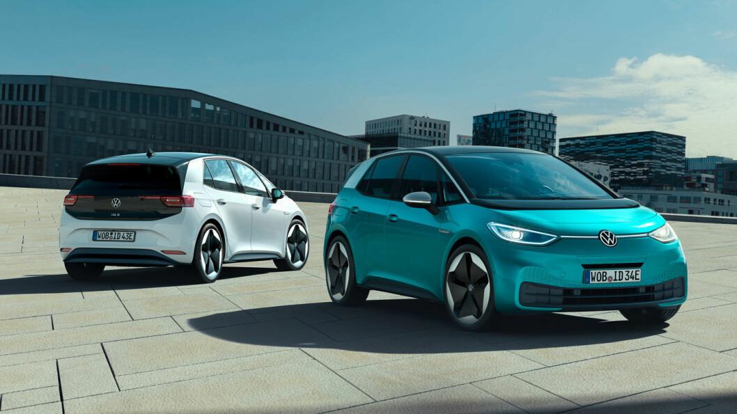 NYKOMMER: Det er fort gjort å glemme den aller ferskete Volkswagen-modellen, ID.3, i en modell-quiz. Det ble produsert 50 stykker av den i 2019. Den er bestilt av mange tusen nordmenn, og skal etter planen komme til sommeren.