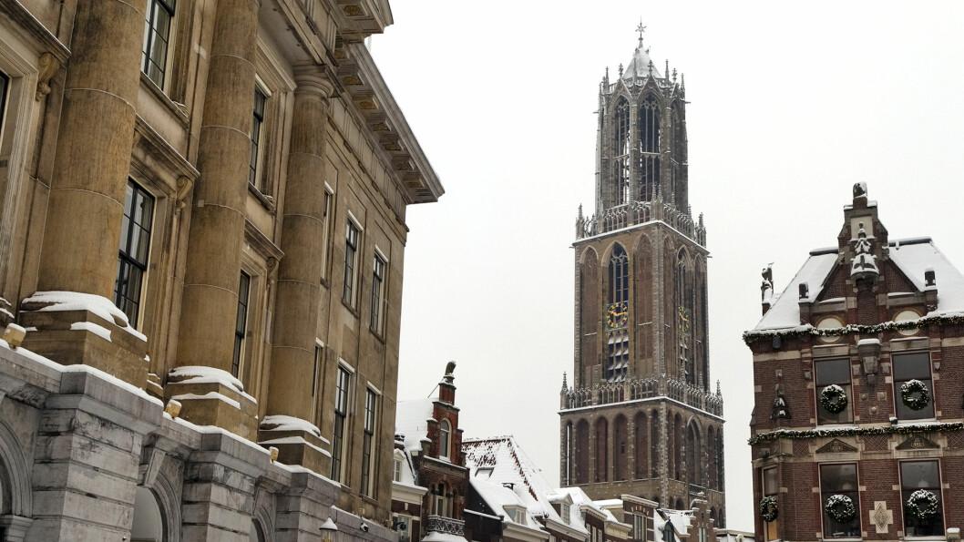 DOMTÅRNET: Tårnet og rådhuset i Utrecht.