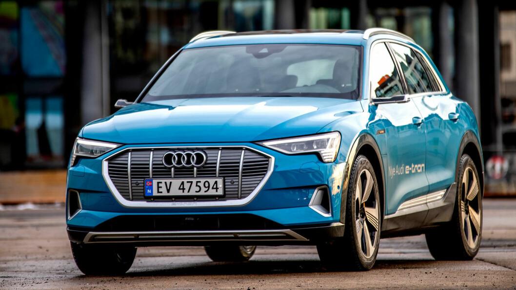 ETTERLENGTET: Endelig er Audis første helelektriske bil på veiene. 7000 nordmenn har bestilt denne bilen. Foto: Tomm W. Christiansen