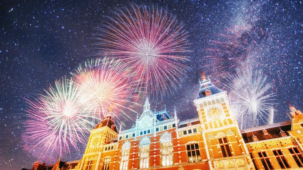 NYTTÅRSFEIRING: Vi hilser det nye året velkommen i Amsterdam.