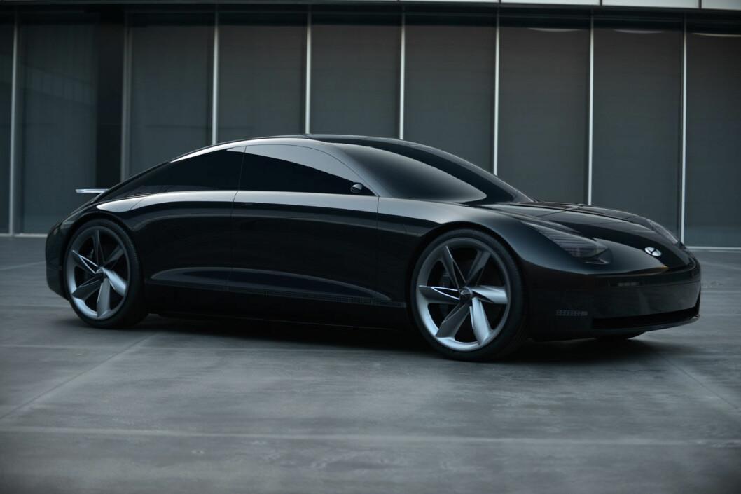 AVDUKET: Hyundais konseptbil Prophecy skulle vises fram på bilutstillingen i Geneve, men denne er som kjent avlyst. Foto: Hyundai Motor