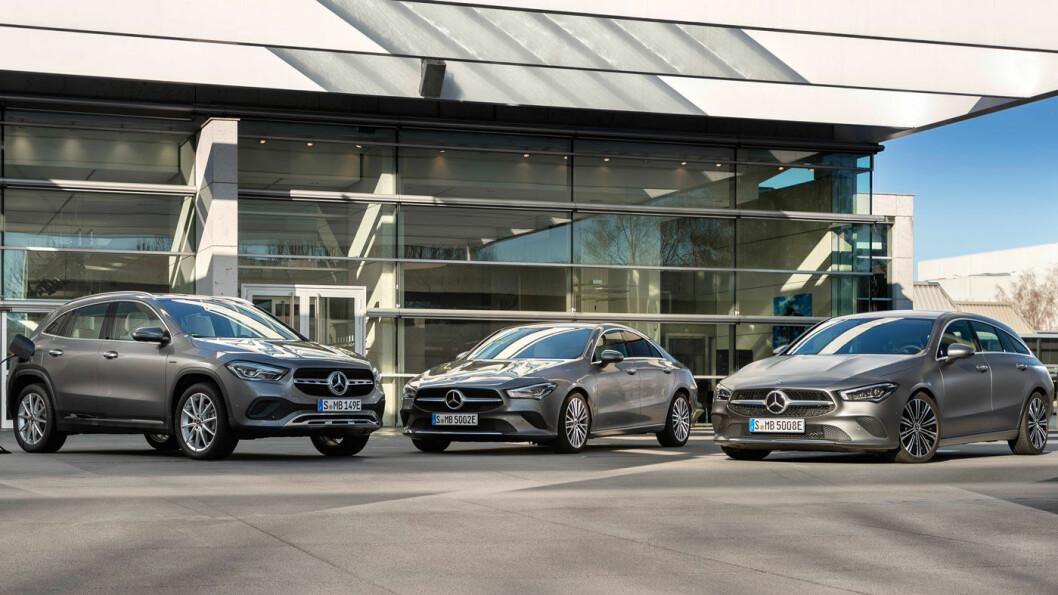 UTVIDES: Nå blir alle versjonene av A-klasse ladbar, med rekkevidde opptil 69 kilometer for de letteste og mest energieffektive. Foto: Daimler