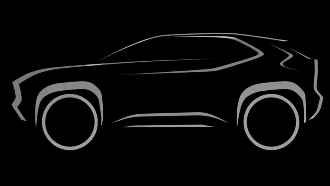 MINI-RAV4: Denne skissen er det nærmeste vi kommer avduking av den nye kompakt-SUV-en i denne omgang. Den forteller oss om en bil med klassisk SUV-silhuett, som en mindre versjon av dagens RAV4.