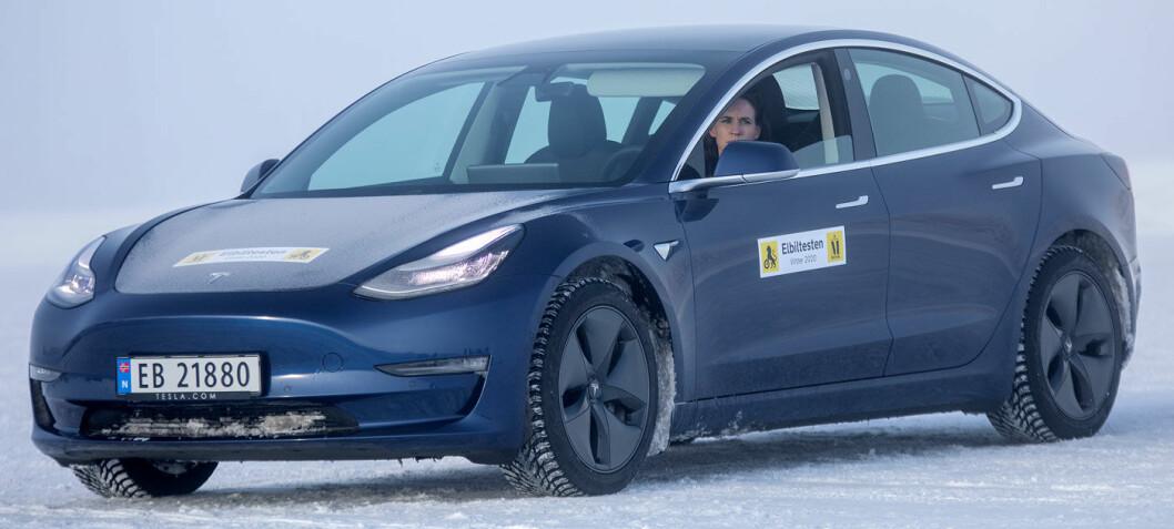 Tesla Model 3 sist i stor vintertest