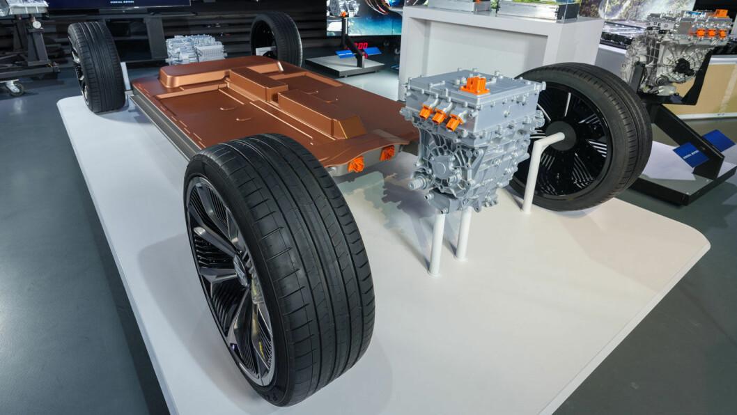 ULTIUM: General Motors har konstruert sin elbil-strategi rundt den nye plattformen med modulære batteripakker som i tillegg til å være fleksible i oppbygging, skal være både mer energi- og kostnadseffektive.