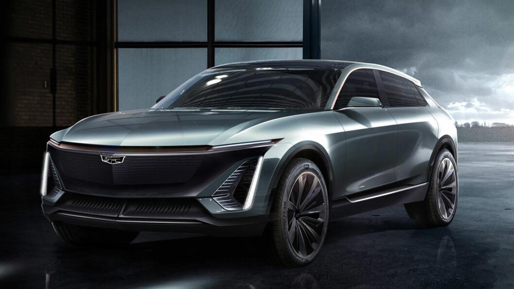 EL-CADILLAC: I 2022 skal crossoveren Lyriq lanseres etter planen. Konseptbilen (bildet) ble vist uten endelig navn i fjor høst.