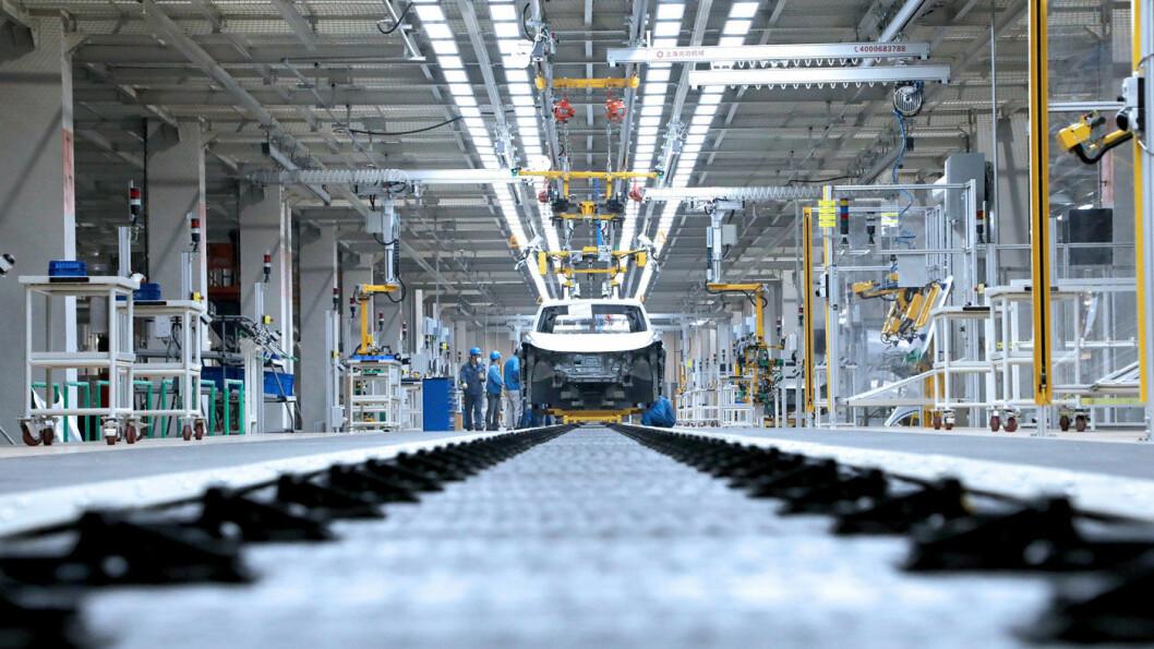 SNART I GANG IGJEN: Produksjonslinje ved en VW-fabrikk i Kina. Foto: VAG