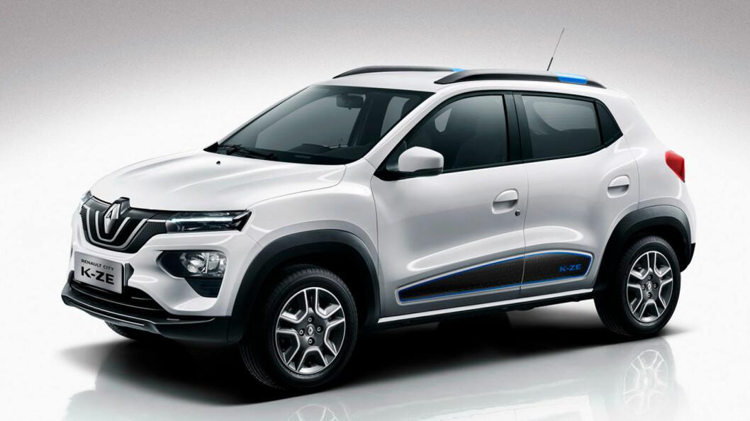 FINNES ALLEREDE: Dette er Renault K-ZE, elbilen som allerede er i salg i Kina for cirka 100.000 kroner. Likheten er åpenbar.