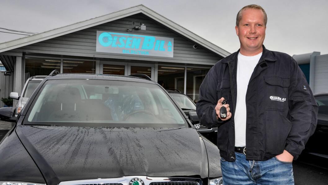 ANKER: Bruktbilselger Geir Egil Olsen anker dommen han fikk i Aust-Agder tingrett. Foto: Baard Larsen