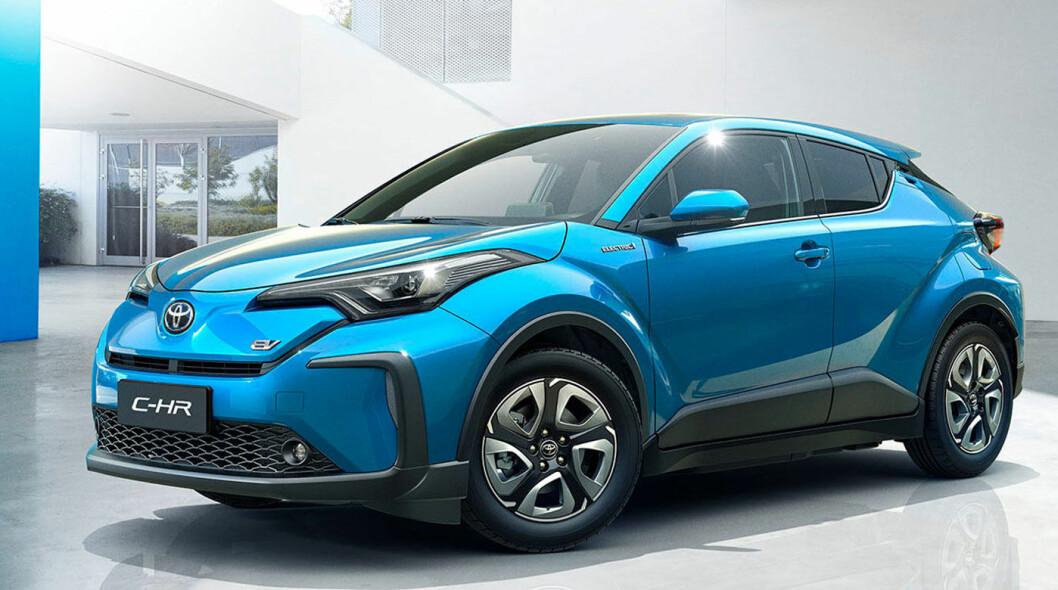 ER I GANG: Crossoveren C-HR selges som elbil i det kinesiske markedet. Den ble lansert i fjor.