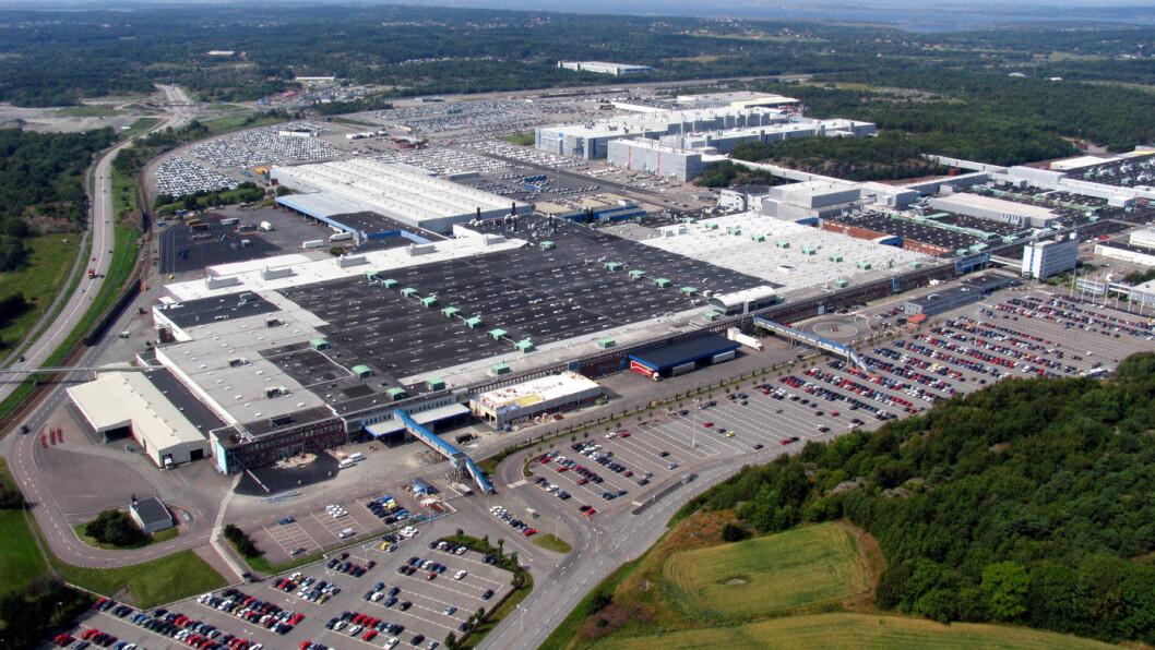 FULL STOPP: Volvo-anlegget i Torslanda utenfor Göteborg, en av de  mange bilfabrikkene som nå blir stengt. Foto: Volvo Cars