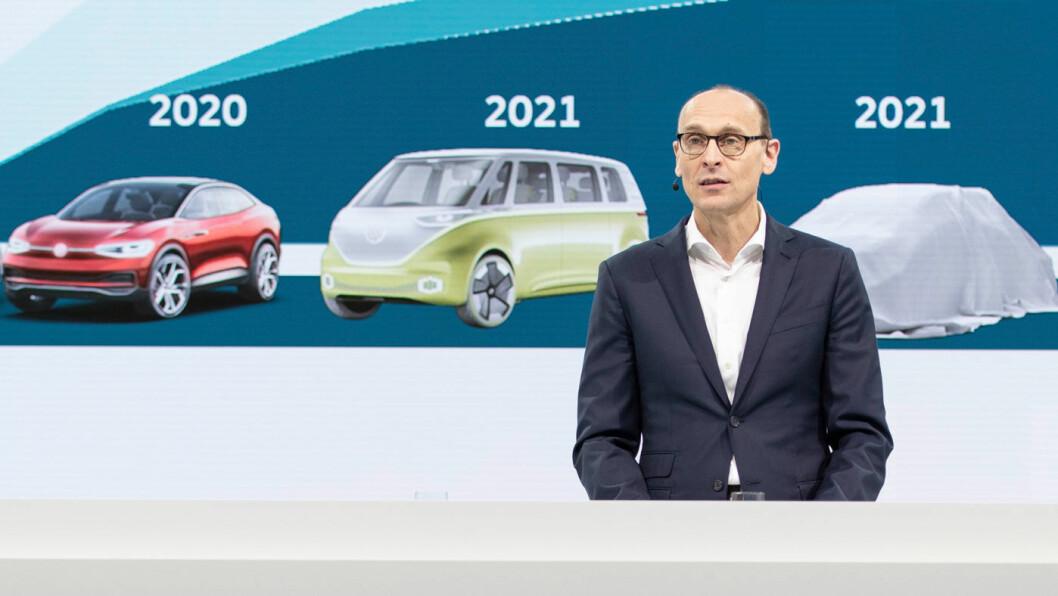 NYE MODELLER: Rolf Brandstätter (bildet) bekrefter at Volkswagen er i gang med utviklingen av ID.1 –en elektrisk mikrobil. Foto: Volkswagen AG