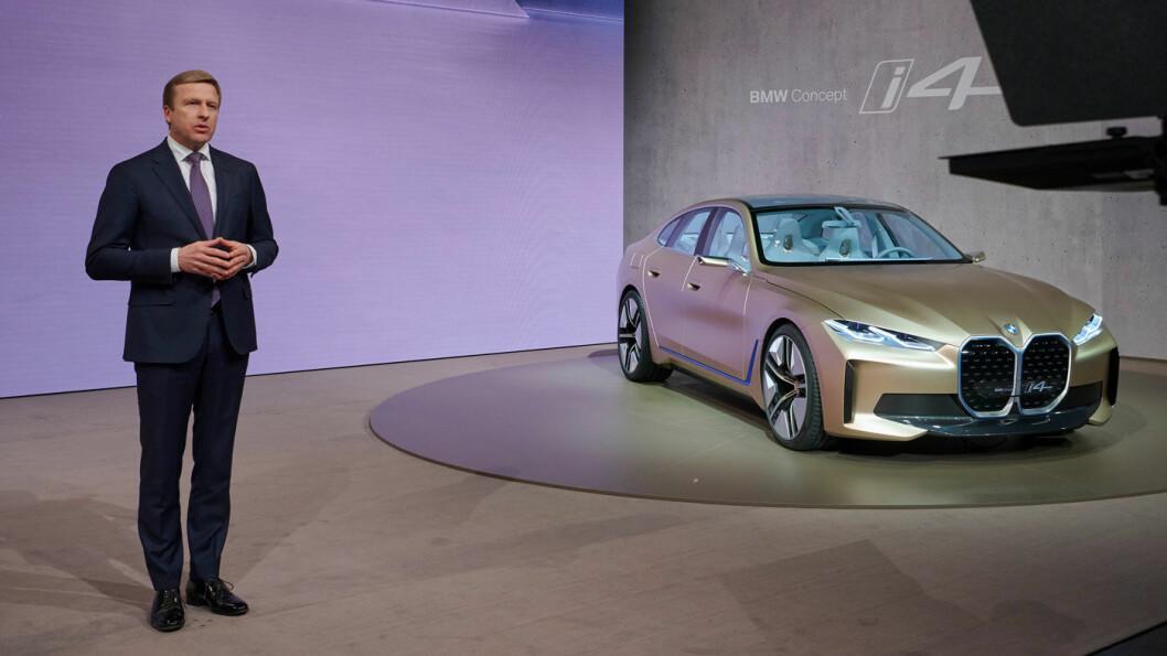 ANNONSERTE EL-FLAGGSKIP: Oliver Zipse, toppsjef i BMW, varslet denne uken at den femte elbilen fra merket blir basert på neste 7-serie.