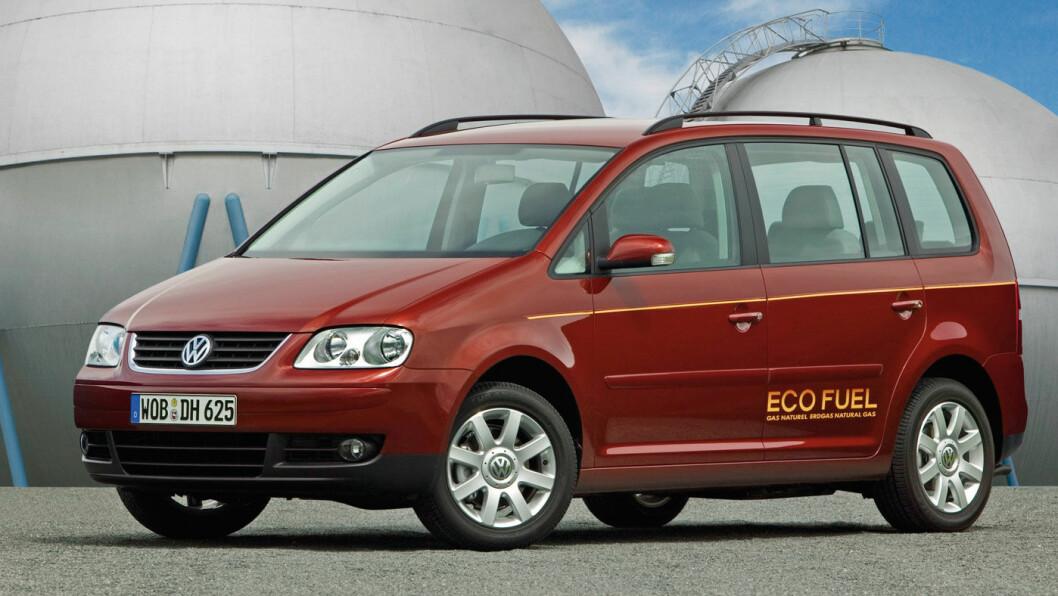 BREMSER GASSEN: Volkswagen Touran er en av bilene som kan leveres med gassdrift, men teknologien er ikke bærekraftig, mener Volkswagen. Foto: Volkswagen AG
