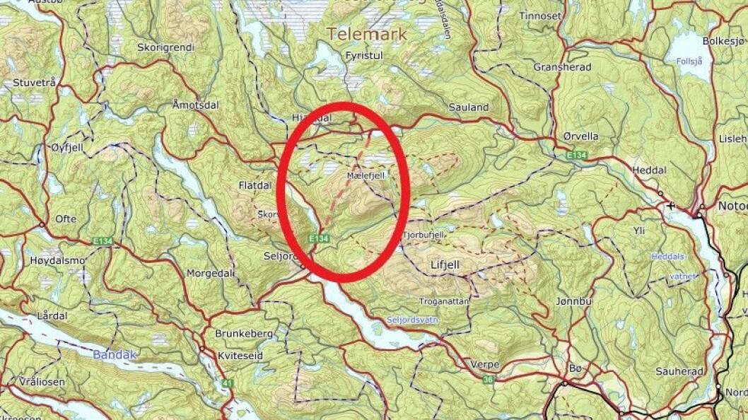 STREKNINGSMÅLING: Mælefjelltunnelen.