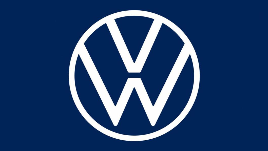 NY: Den nye logoen Volkswagen presenterte sist høst.