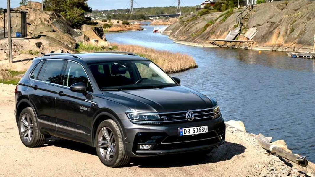BEHAGELIG: VW Tiguan er stabil på veien og fast i understellet, uten at den blir slitsomt stiv.