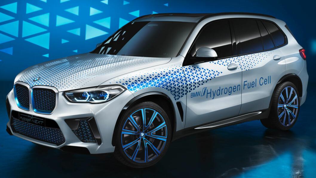 BASERT PÅ X5: BMW anser at hydrogen særlig er hensiktsmessig som energibærer for større kjøretøy. Foto: BMW