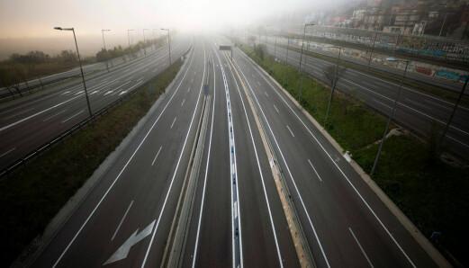 Slik er Europas motorveier under pandemien