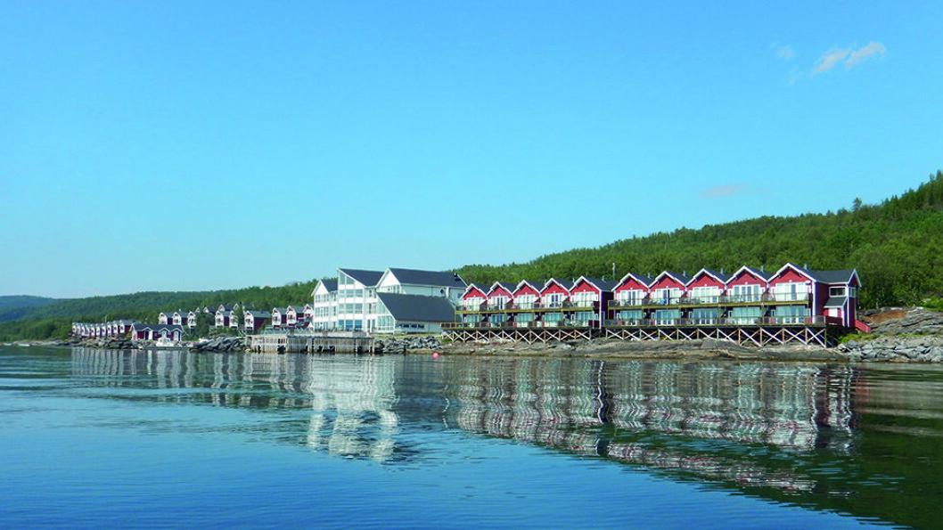 PANORAMA MOT FJORDEN: Malangen Resort – en topp moderne reiselivsbedrift i naturskjønne omgivelser. Foto: Per Roger Lauritzen
