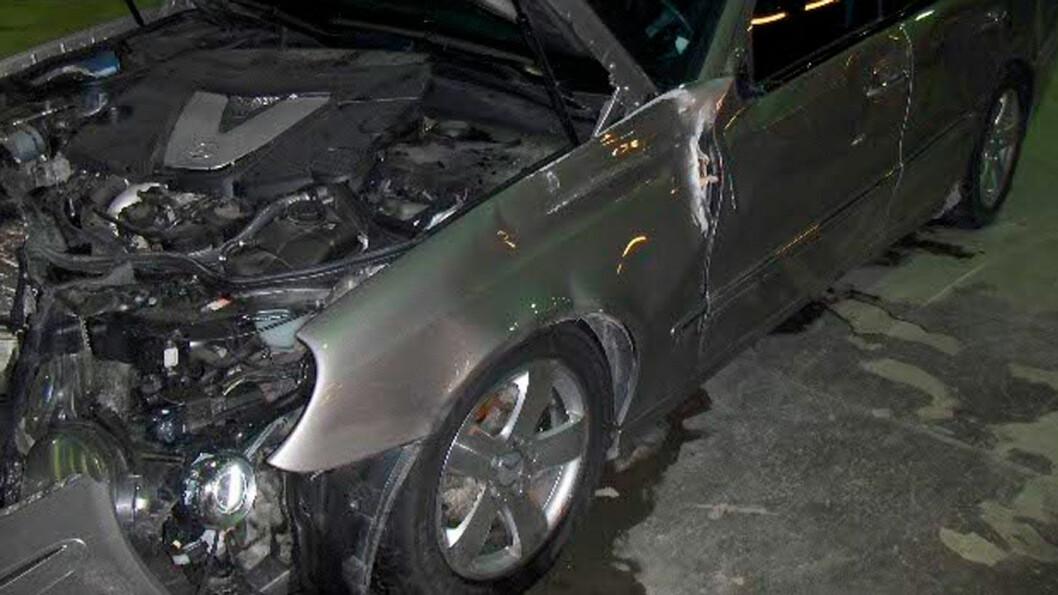 KRASJET? NEI DA! Slik så bilen ut den kraftige kollisjonen. Men det forble ukjent for senere eiere.