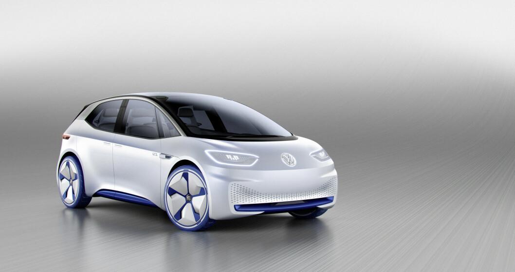 2020: VW ID er konseptet på en helt ny elbil som skal lanseres i 2020. Rekkeviden blir mellom 400 og 600 kilometer. Foto: VW