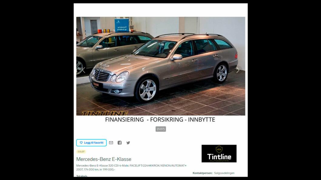 GOD SOM NY? Slik ble bilen annonsert ved siste salg på Finn.