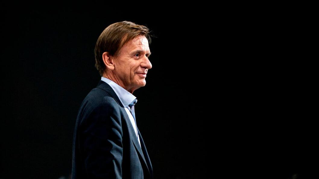 INGEN STRØMSTANS: Volvo-sjef Håkan Samuelsson må si opp 1300 ansatte i Sverige, men fastholder elbilsatsingen. Foto: Volvo Car