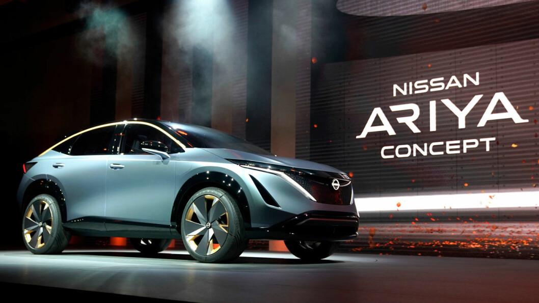 ETTERLENGTET: Nissan Leaf er ikke lenger referansen i elbilmarkedet og produsenten trenger sårt et mer tidsmessig produkt. Det har knyttet seg store forventninger til den elektriske SUV-en Ariya, her vist som konseptbil. Men kommer den – og når?