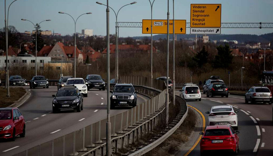 SOM FØR: Trafikken på Oslo-veiene, som her på Ring 3, er tilbake på samme nivå som før pandemien.