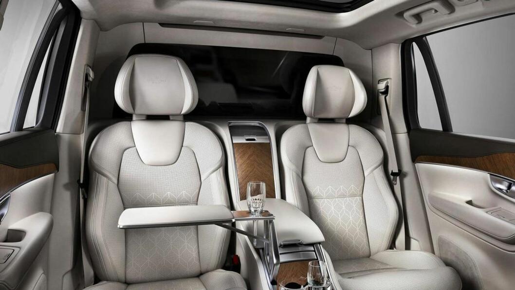 VIL TA LUKSUS-ANDELER: Volvo ønsker å få større innpass hos pengesterke kunder. Interiøret på bildet er fra Volvo XC90 Excellence.