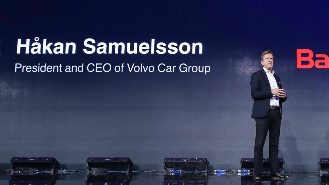 ELBIL-OPTIMIST: – Hvis regjeringene subsidierer en retur til den gamle verden, mener jeg det ville være bortkastede penger, sier Håkan Samuelsson, toppsjef i Volvo Cars.