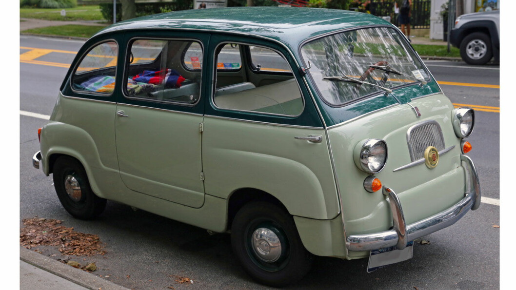 PIONEREN: Fiat lanserte sin flerbruksbil 600 Multipla allerede i 1956. Copyright By Mr.choppers - Own work, CC BY-SA 3.0, https://commons.wikimedia.org/w/index.php?curid=30705420