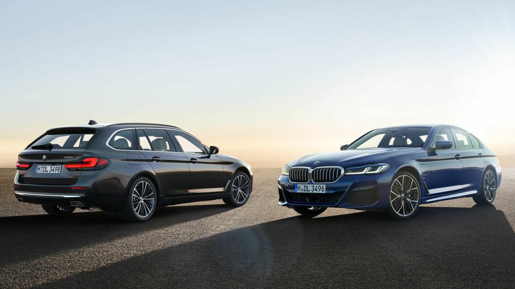 ELEKTRIFISERES: BMW 5-serie Touring var lenge den folkelige prestisjemodellen til BMW, men nå har SUV-ene overtatt den rollen. I ladbar versjon vil den likevel fortsatt appellere til mange. Foto: BMW