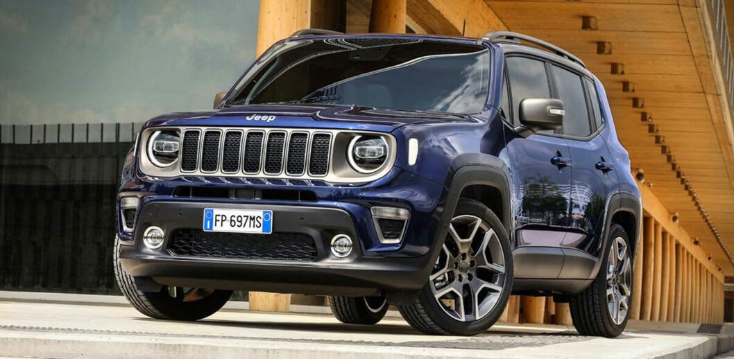 PRØVEKJØRER: En Jeep Renegade med diverse avansert teknologi skal være i stand til å kjenne igjen et byområde – og skifte fra bensin til elektrisk modus. Foto: FCA