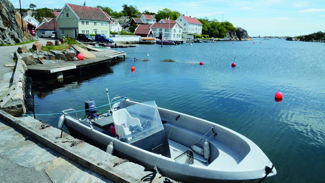 IDYLLISK: Brekkestø er en uthavn på Skagerrakkysten og også blant høydepunktene langs kysten. Foto: Per Roger Lauritzen