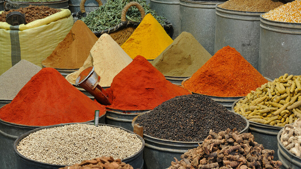 MARKEDSSTEMNING: Kryddermarkedet i Marrakech er en opplevelse i farger og dufter. Foto: Dreamsteam