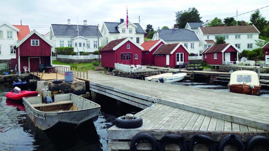 EN FERGETUR FRA BYEN: Merdø utenfor Arendal, byr både på et lite museum og fine turstier. Foto: Wikimedia